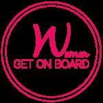Women Get On Board Logo